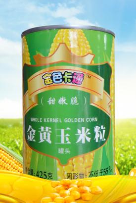 金色卡通金黄玉米粒425g*24