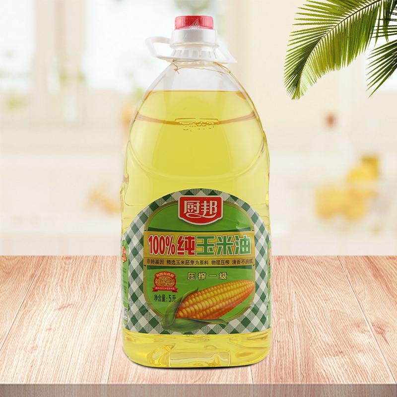 厨邦100%纯玉米油5L